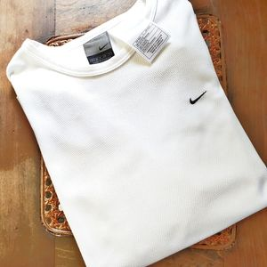 Nike Long Sleeve White Athletic Wear Size Small